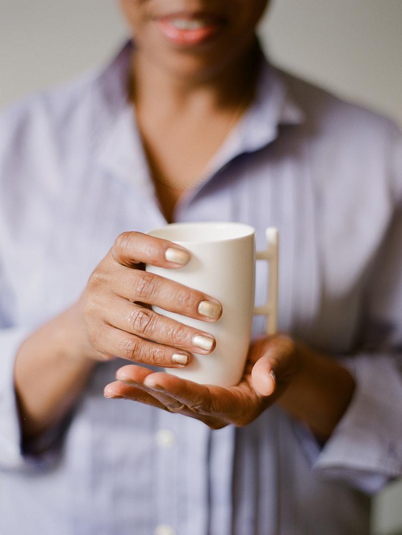 Pamela J Alexander serving tea