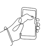 hand phone linedrawing
